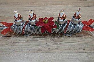 Svietidlá a sviečky - svietnik mini mikulášikovia - 8771147_