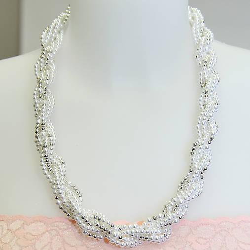 0602aba7e 02 Perlový náhrdelník - bielo/strieborný / intimatestories - SAShE ...