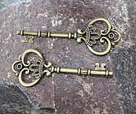 - kovová ozdoba kľúč - 8769455_