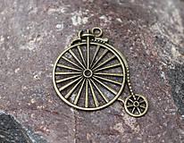 - ozdobný kovový retro bicykel - 8769459_