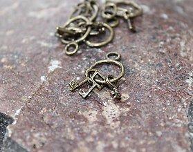 Komponenty - malá kovová ozdoba kľúče - 8768381_