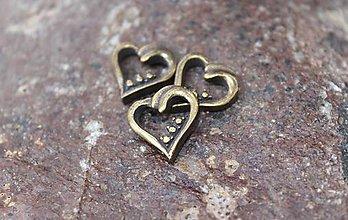 Komponenty - kovová ozdoba srdce - 8769385_