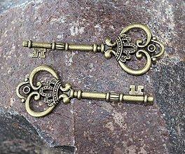 Komponenty - kovová ozdoba kľúč - 8769455_