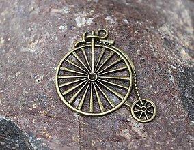 Komponenty - ozdobný kovový retro bicykel - 8769459_