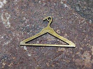Komponenty - kovový prívesok - ramienko - staré zlato - 8769509_