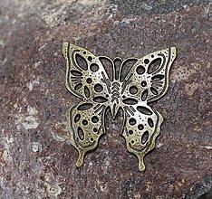 Komponenty - kovový motýľ - 8769515_