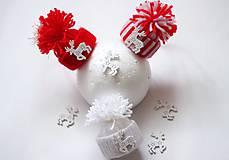 Dekorácie - Vianočné čiapočky - 8767864_