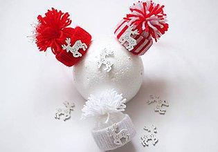 Dekorácie - Vianočné čiapočky - 8767877_