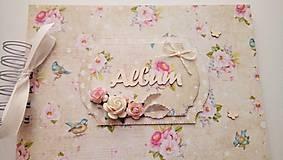Papiernictvo - romantický fotoalbum A5, skladom - 8767688_