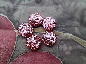 Komponenty - Trblietavé kabošony - pár (S ružovými trblietkami) - 8766729_