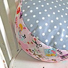 Úžitkový textil - PUF Rôzne farby a vzory (Ružový Rozprávkový) - 8771103_