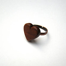 Prstene - Slivkové srdiečko na prštek - 8768700_