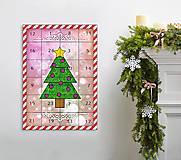 Dekorácie - Adventný kalendár vianočný stromček 3 - 8770370_