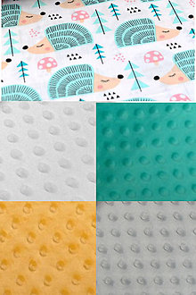 Textil - BUVI... Tyrkysoví ježkovia & MiNKy... deka pre najmenších ♥ (Žltá) - 8774770_