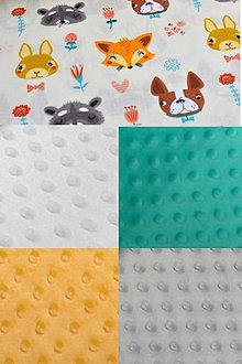 Textil - BUVI... Zvieratká & MiNKy... deka pre najmenších ♥ (Žltá) - 8775329_