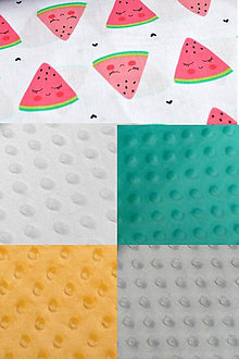 Textil - BUVI... Melóniky & MiNKy... deka pre najmenších ♥ (Žltá) - 8775470_