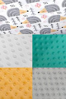 Textil - BUVI... Šedí ježkovia & MiNKy... deka pre najmenších ♥ (Žltá) - 8775511_