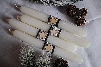 Svietidlá a sviečky - Adventné sviečky... - 8773501_