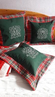 Úžitkový textil - Vianočné vyšívané vankúše - 8773596_