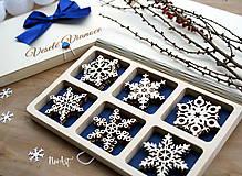 Dekorácie - Drevené vianočné ozdoby - Vločková kolekcia II. - 8775269_