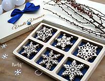 Drevené vianočné ozdoby - Vločková kolekcia II.