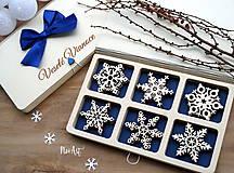 Dekorácie - Drevené vianočné ozdoby - Vločková kolekcia II. - 8775275_