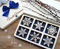 Dekorácie - Drevené vianočné ozdoby - Vločková kolekcia II. - 8775276_