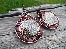 Náušnice - Soutache náušnice Orient Cinnamon - 8773721_