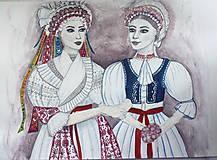Kresby - Sestry - originál - 8771543_