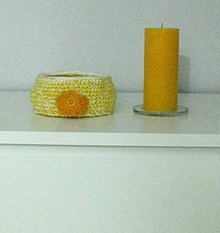 Dekorácie - Košík žltý - 8774357_