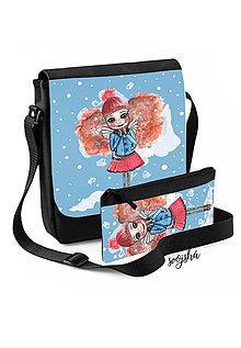 Na tablet - Sada taška + peračník Anjelka korčuliarka - 8772904_