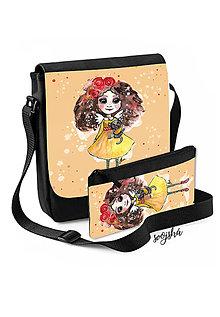 Na tablet - Sada taška + peračník Anjelka s mačičkou - 8772911_