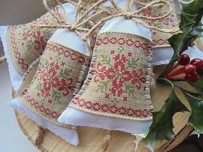 Dekorácie - Vianočné folkové zvončeky - 8773161_