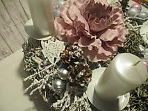 Dekorácie - Adventný svietnik - 8775706_