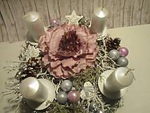 Dekorácie - Adventný svietnik - 8775710_