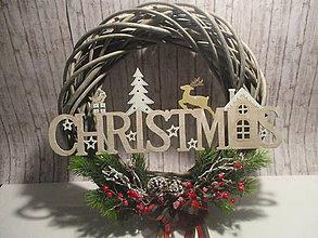 Dekorácie - Veniec Christmas - 8776283_