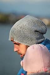 - ...pánska čiapka oversize STONE BLUE - 8774432_