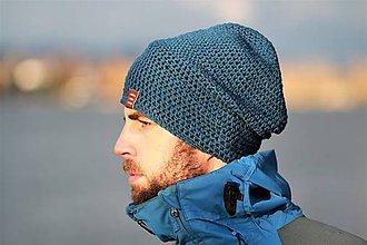 Doplnky - ...pánska čiapka oversize BLUE COTTON - 8774447_
