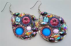 Náušnice - Jesenná kolekcia - žiarivé farebné náušnice - 8775545_