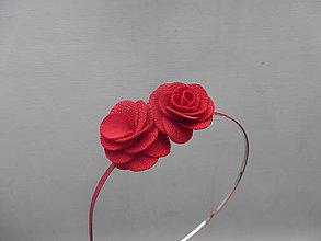 Ozdoby do vlasov - Ruže červené ...čelenka - 8774696_