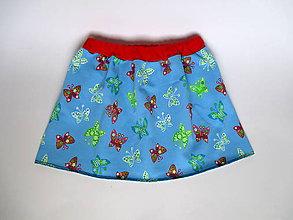 Detské oblečenie - detská sukňa motýlí sen - 8772592_
