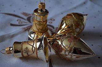 Dekorácie - Zlatá sada s lístkami - 8775983_