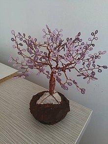 Dekorácie - Fialový velký stromček šťastia - 8772819_