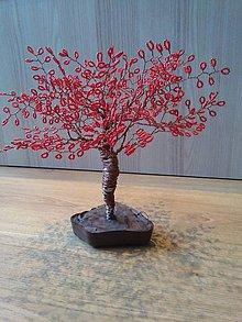 Dekorácie - Červený veľký stromček šťastia - 8772832_