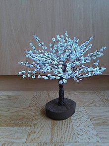 Dekorácie - Biely veľký stromček šťastia - 8772871_