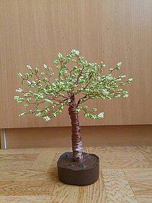 Dekorácie - Zelený veľký stromček šťastia - 8772910_