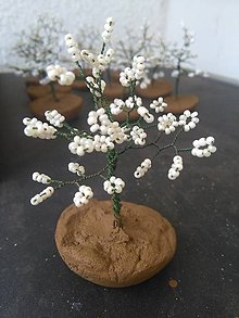 Dekorácie - Biely malý stromček šťastia - 8772939_