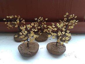 Dekorácie - Žltý stromček šťastia - 8772985_