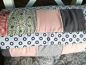 Textil - Detská deka šedá púdrová 80x105cm - 8772943_