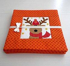 Úžitkový textil - Priatelia za Polárnym kruhom - oranžové podšálky - 8773851_